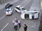 Cop car crash