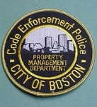 BOSTON MASSACHUSETTS MA CODE ENFORCEMENT POLICE PATCH