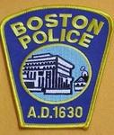 BOSTON MA MASSACHUSETTS POLICE PATCH
