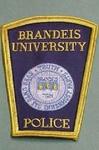 BRANDEIS UNIVERSITY WALTHAM MA POLICE PATCH