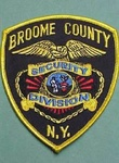 BROOME COUNTY NY SECURITY POLICE PATCH