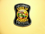 Kansas State police Highway Patrol patch