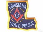 Louisana Free Mason State Police Masonic Patch F&AM