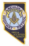 Nevada State Police Masonic Patch Free Mason