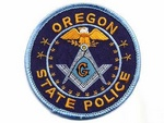 Oregon State Police Masonic Patch Mason Highway Patrol